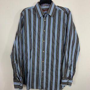 Robert Graham Men's 41 -16 Flip Cuff Dress Shirt